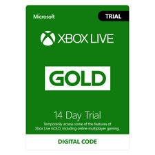14 Day Xbox Live Gold Membership Trial Code Xbox 360 Xbox One Microsoft