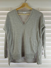 WITCHERY sz 12 (or M ) womens split front WOOL jumper top [#1665]