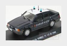 Alfa Romeo 75 1.8 I.E. Carabinieri 1988 Blue White Edicola 1:43 CARAB008
