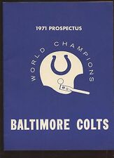 1971 NFL Football Baltimore Colts Prospectus EXMT+