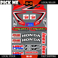 Decal Sticker Sheet KIT For Honda CRF 50 F 2004- 2013 2014 2015 2016 2017 2018