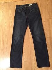 Men's H&M Bragg Straight Leg Button Fly Jeans Sz 30 Inseam 34 Euc