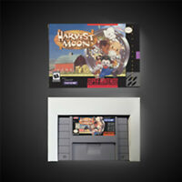 Harvest Moon USA NTSC Version With Retail Box RPG Game Battery Save SNES Game