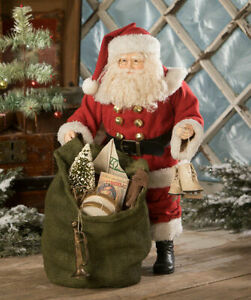 Bethany Lowe Christmas Kris Jingles With Bells TD9024 Large Santa Free Shipping