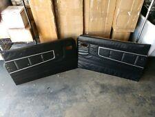 Datsun 76- 79 620 OEM Black Door Panels w/ Metal Brackets (2x, Left & Right)