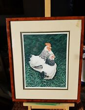 LIGHT SUSSEX CHICKENS BY A. MORTLEY (??) 93 / 200 LIMITED EDITION PICTURE PRINT