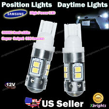 2pcs 921 912 906 T10 T15 Samsung 11w LED DRL Position Light Projector Lens White