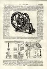 1889 Portable Electric Cranes Windlass Guyenet Paris