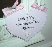 SHABBY CHIC * Personalised Sign * Baby's Bedroom * Girl