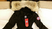 """BRAND NEW BLACK """"RED LABEL"""" CANADA GOOSE TRILLIUM EXTRA-SMALL PARKA JACKET"""