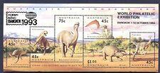 AUSTRALIA - 1993 - BF - Animali preistorici - sovr. Bangkok
