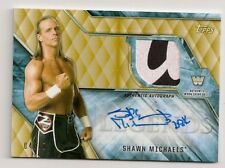 2017 TOPPS WWE LEGENDS SHAWN MICHAELS AUTO SHIRT #/10 GOLD HEARTBREAK KID HBK