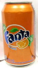 FULL 355ml 12oz Canadian Can Coca-Cola's Fanta Orange Canada French English 2016