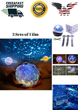 Must Have Star Night Light Kids Universe Light Projection Lamp 3 Sets of Film