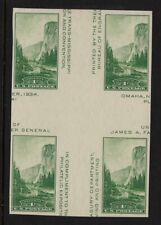 1935 Sc 769 National Parks mint, cross gutter block CV $15 NGAI