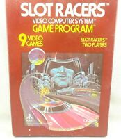 Atari 2600 Slot Racers Picture Game In Box Tested Free Expedited Shipping