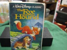 The Fox & The Hound VHS 1993 Walt Disney's Black Diamond Classic RARE  W/ Label