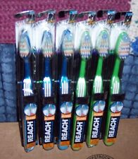 6 NEW REACH COMPLETE CARE TRIPLE ANGLE FLOSS TOOTHBRUSHES - FULL SOFT HEAD