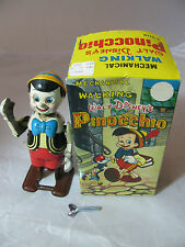 VINTAGE MECHANICAL WALKING PINOCCHIO by LINEMAR in ORIGINAL BOX WALT DISNEY