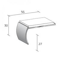 QUANTUM COMMERCIAL ALUMINIUM STAIR NOSINGS SB1 WHITE/ALUMINIUM