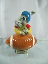 1972 Jim Beam Political Liquor Decanter / Bottle Democrat Donkey w/Football