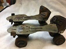 Vintage Pair of Metal UNION HARDWARE COMPANY Adjustable Roller Skates ,USA