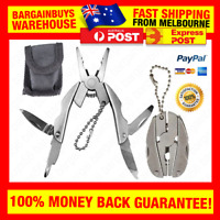 Stainless Steel Camping Survival Multitool Pliers Knife Keychain Screwdriver