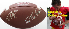 """TAYLOR KELLY Signed Wilson OS NCAA Football w/ """"Fear The Fork""""-ARIZONA STATE"""