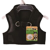 Padded Black Pet Mesh Harness Large Small Dogs Puppy Safe Comfortable Strap Vest