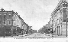 Tyrone Pennsylvania Avenue Street Scene Historic Bldgs Antique Postcard K63746
