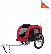 Trixie 12813 Fahrrad-Anhänger, rot/schwarz, S: 53×60×60 (117) cm, bis 20 kg