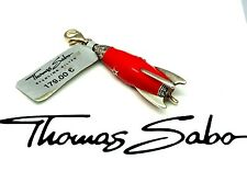 Thomas Sabo Rakete Emaille Zirkonia Charm Rocket Anhänger 925 Sterling Silber
