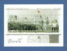 """CHRISTO Autogramm Autograph signed Card """"Wrapped Reichstag"""" KPK"""