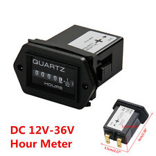 Dc 12V-36V Hour Meter Car Boat Truck Tractor Diesel Outboard Engine Rectangular (Fits: Wasp)