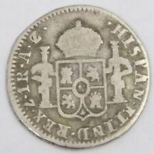 México war independence very scarce 1 real Zacatecas 1821 AZ/AG
