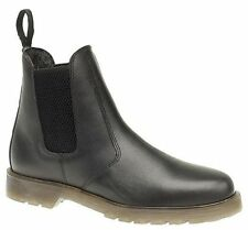 MENS BLACK LEATHER SIZE 6 7 8 9 10 11 12 AIR CUSHION SOLE SLIP DEALER WORK BOOTS