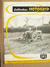Prospectus Tracteur   SOMECA  Cultivateur MOTOGRIP   1960  brochure catalogue
