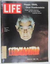 LIFE MAGAZINE MARCH 15 1968 BORIS KARLOFF FRANKENSTEIN JIMI HENDRIX BILL COSBY
