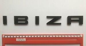 "SEAT ""IBIZA"" GLOSS BLACK REAR BADGE LOGO LETTERS BESPOKE 3mm ACRYLIC 3M BACKING"