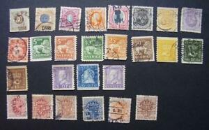 Sweden  group of early used stamps  (lot 351)