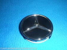 Mercedes Benz Genuine Pièce 4 Enjoliveurs De Roue 75mm Mat Noir