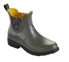L L Bean Wellie Rain Boots Ankle Army Green Sz 7