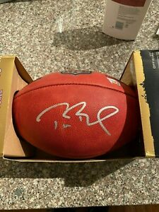 Tom Brady Signed Autographed Official Duke Game Football New England Patriots