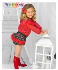 PDF FILE SEWING PATTERN BLOUSE & BLOOMERS with ruffles size 1-10y SPANISH DESIGN