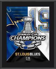 """St. Louis Blues 2019 Stanley Cup Champs 10.5"""" x 13"""" Champs Logo Plaque"""