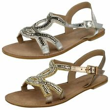Ladies Leather Collection Glamorous Flat Sandals