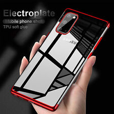 For Samsung Galaxy S20 FE 5G Case Plating Clear Soft TPU Rubber Shockproof Cover