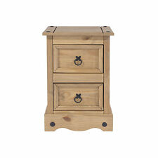 Premium Corona Solid Pine Bedroom Range - Mexican Style 2 Drawer Petite Bedside