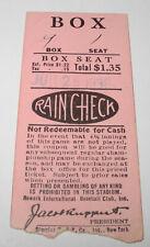 1936 Newark Bears Baseball International League Yankees Ticket Jacob Ruppert