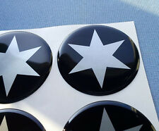(stern 6/60) 4x Embleme für Nabenkappen Felgendeckel 60mm Silikon Aufkleber